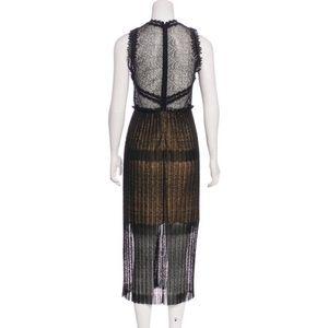 22b1a14d63715 Alexis Dresses   Bryana Sleeveless Plisse Lace Midi Dress   Poshmark